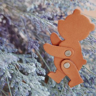 Shekinah handmade leather bear key ring