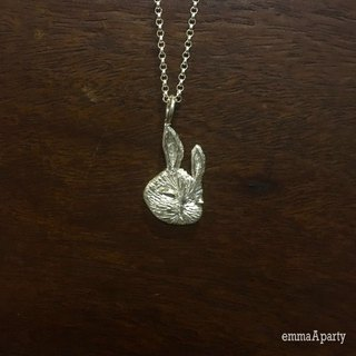 EmmaAparty handmade sterling silver necklace '' rolled white rabbit '