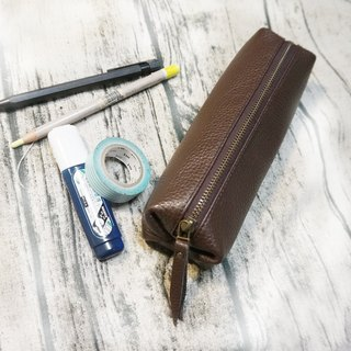 Leather pencil case cosmetic bag