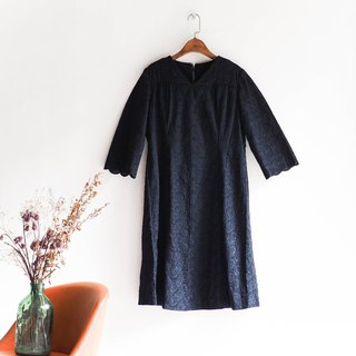Kawashima - Tokushima Pure Black Circles Amusement Park Vintage One-piece silk dress Ocean dress overalls oversize vintage dress