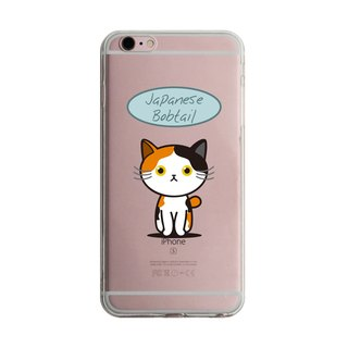 Custom Japanese Bobtail transparent Samsung S5 S6 S7 note4 note5 iPhone 5 5s 6 6s 6 plus 7 7 plus ASUS HTC m9 Sony LG g4 g5 v10 phone shell mobile phone sets phone shell phonecase