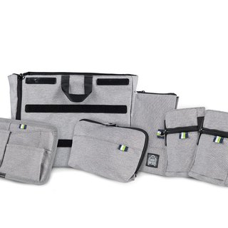 NESO complete set of gray accessory bags (internal main bag + 5 accessories)