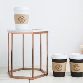 MINI COFFEECUP TRASHCAN / WHITE