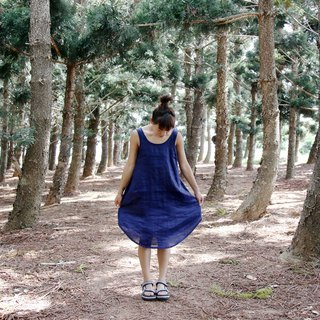 Arc skirt design | Vest dress blue