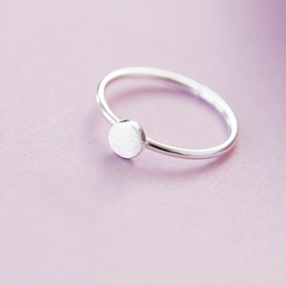 Round Mini Ring in 925 Sterling Silver - free size