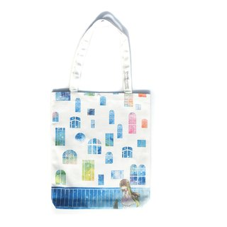 White Window - Printed Canvas Tote