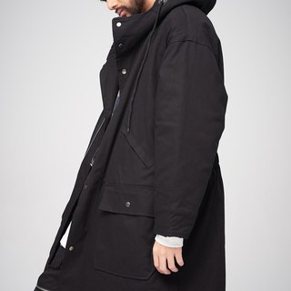 Long version of Hooded coat 8888