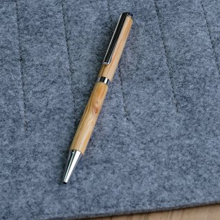 Solid wood ball pen