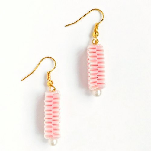 Sakura Collection / Hand knitting / Gradient / Pink / Earrings