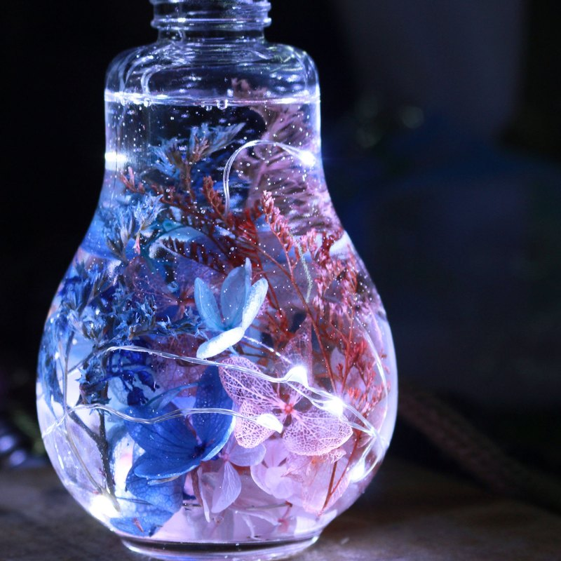 couples night light pink blue mixed color liquid crystal bulb