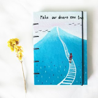 You should follow your dreams., Notebook Painting  Handmadenotebook Diary 筆記本