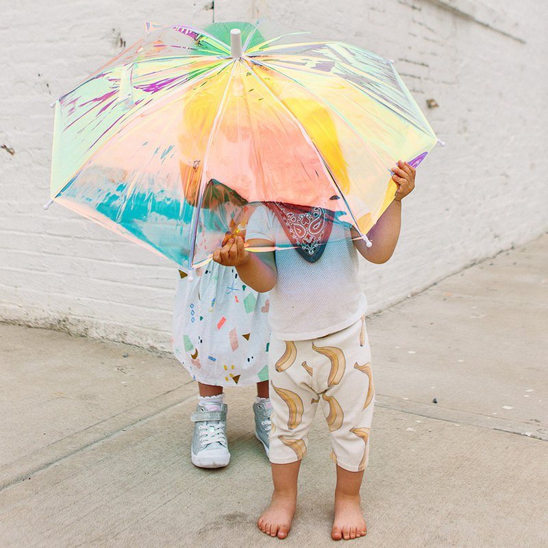 American Hipstergd Holo Anti-Strong Wind Colorful Translucent Umbrella - Children