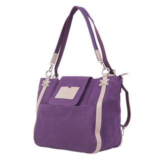 "Amore Aijiadanni ""Her Change · City Tottenham"" portable shoulder back with three purple bag A4 package"