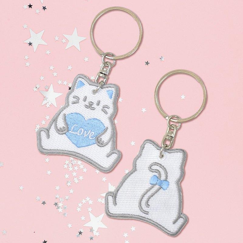 刺繡鑰匙圈-小熊/貓咪/柴犬/兔子│情人節│生日禮物│伴郎禮物