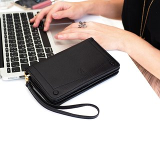 Kylie wallet : wallet, Leather wallet, Black wallet, Genuine wallet