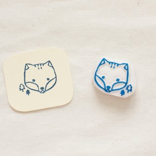 Hand carved fox chest rubber stamp seal