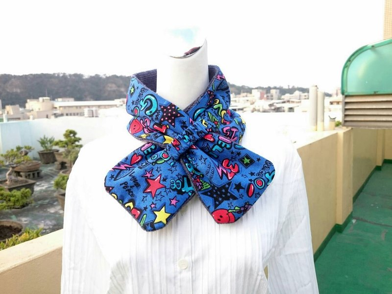 Adjustable short scarf. Scarf warm double-sided color adults. Children are applicable*SK*