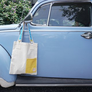Back to school with Light blue Pencil tote bag