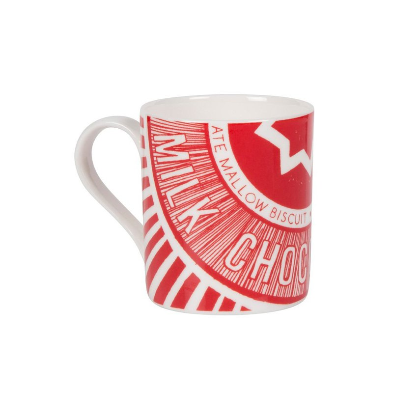 British Gillian Kyle and Tunnock joint popular style hand-painted afternoon tea biscuits text mug