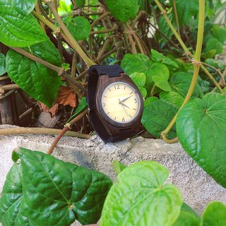 wooden watch ebony color dark brown