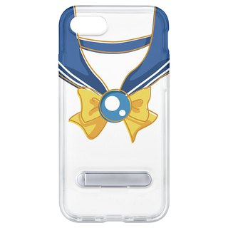 Sailor suit yellow knot blue belt hidden magnet bracket iPhone 8 7 6 plus phone case