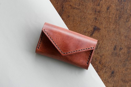 SUNNY - SMALL LEATHER BAG  CARD HOLDER - BROWN (LIMITED)