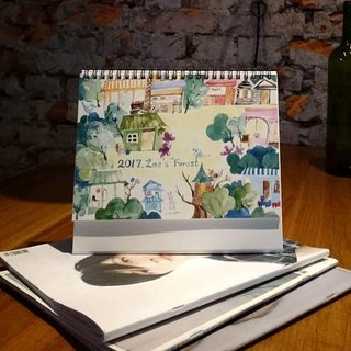 Zoe's forest 2017 I dream forest Shop A5 desk calendar