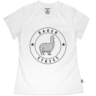 British Fashion Brand [Baker Street] Alpaca Stamp Printed T-shirt