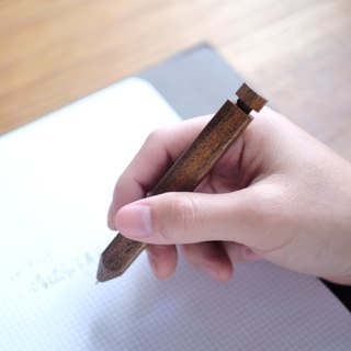 Teak/ballpoint pen/hand-made/wooden/replaceable pen/free hand-lettering