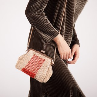 Ke new man handmade thread handbags fashion wild shells straw bag leisure mouth gold bag female shoulder Messenger bag
