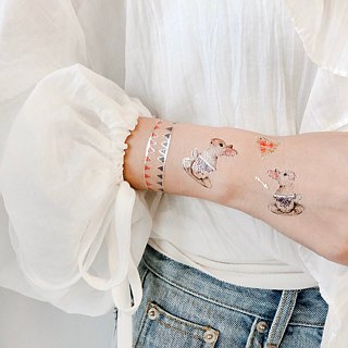 :: Tattoo / Tattoo Stickers :: Lunch Rabbit Ladies 2 into original hand painted | PAPERSELF