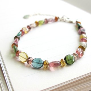 [Soda Candy] Multicolor Tourmaline x 925 Silver - Handmade Natural Stone Series