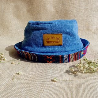 Tipple Sun Jean Bucket hat (Light Jeans /Traditional fabric)