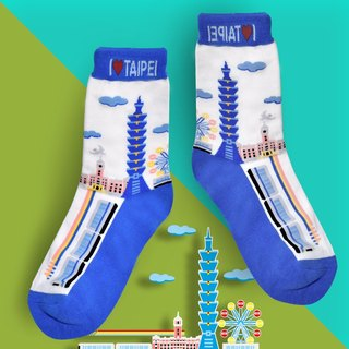 Taipei Socks (2 Entry) - iLove Taipei fun SOCKS