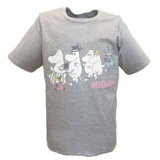 Moomin Lulu meters authorized-T-shirt: [happy team] adult short-sleeved T-shirt