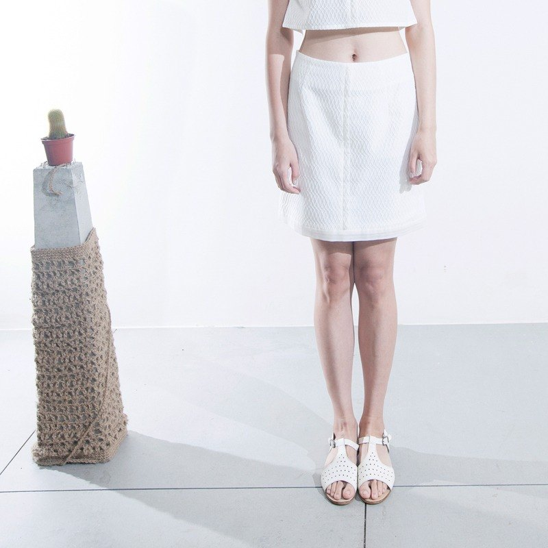 Envelope cotton skirt