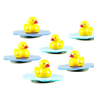 Pond Magnets Yellow Duck Character Random Color Delivery Lot of 6