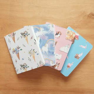 Small Notebook set : 160x120 mm (set of 4)