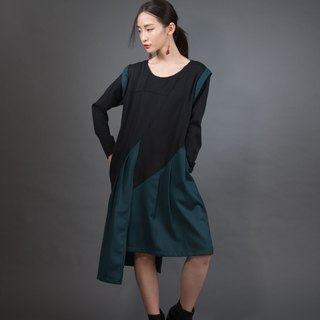 Forest dark green dress
