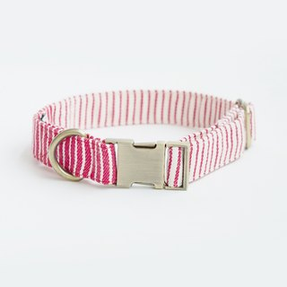 Red Nautical Stripe Collar | For Dogs