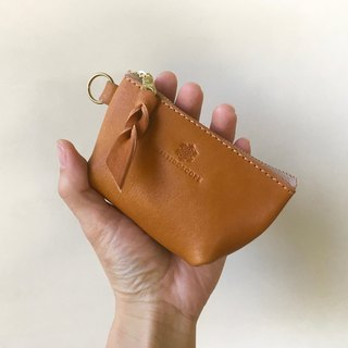 JAPAN Leather Nume leather mini pouch barco camel