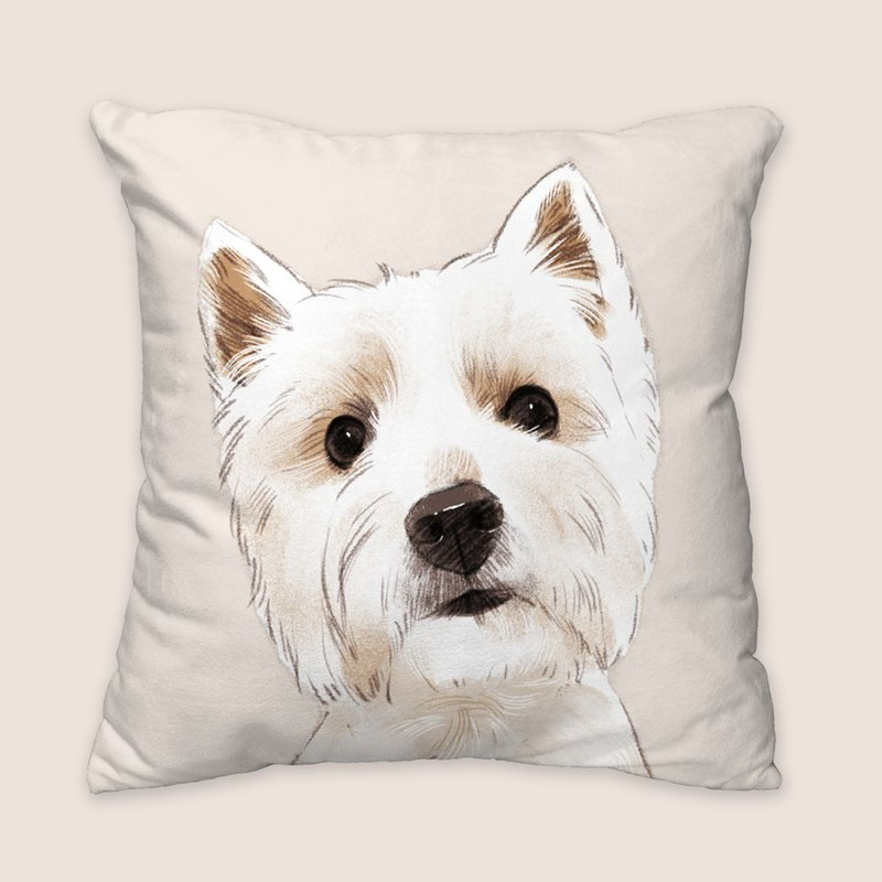 [I will love you forever] Classic Western Highland Pillow Dog Animal Pillow/Pillow/Cushion