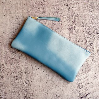 Lambskin carry mobile phone bag clear sky cloud ultra large capacity can put mobile banknote card