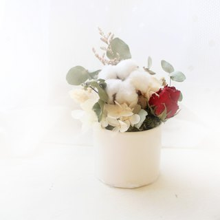 Forest Vintage Rose Sweet Round Table Flower · Classical Red & Cotton Dry Flower Ceremony