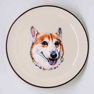 Wall-mounted decorative plate / snack plate series - shiny and smiling Koki