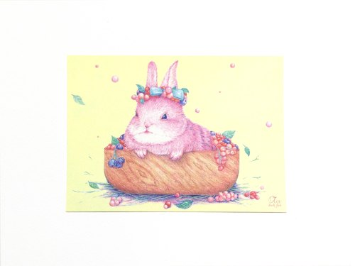 Berry Bunny Postcards
