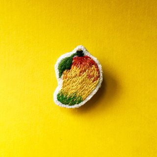Mini Hand Embroidery Brooch / Pin Love Mango