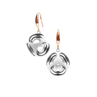 Turner's Rounded Cube Earrings (White)  | Scaling Collection