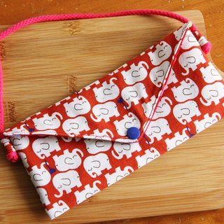 Wen Qingfeng red envelope storage bag backpack ~ Vientiane update the pouch mobile phone bag red envelope bag backpack with a small bag New Year's Eve exchange gifts
