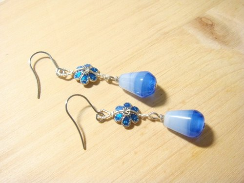 Grapefruit Forest Handmade Glass - Good Luck - Glass Earrings - (Can be changed to another clip)